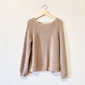 J. Crew Oatmeal Knit Oversized Sweater